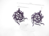 Aster Globe Earrings 3d printed Midnight Nylon (Custom Dyed Color)