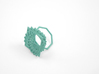 Arithmetic Ring (Size 6) 3d printed Teal Nylon (Custom Dyed Color)