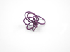 Flora Ring A (Size 7) 3d printed Eggplant Nylon (Custom Dyed Color)