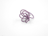 Flora Ring A (Size 9) 3d printed Wisteria Nylon (Custom Dyed Color)