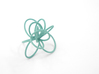 Flora Ring B (Size 6) 3d printed Teal Nylon (Custom Dyed Color)