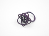 Sprouted Spiral Ring (Size 6) 3d printed Midnight Nylon (Custom Dyed Color)