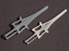 Power Sword 3d printed Original with Silver Glossy
