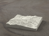 4'' Great Smoky Mountains, TN/NC, USA, Sandstone 3d printed Rendering of model from the North, Mt Le Conte is in the foreground
