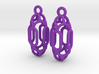 Vertical Oval Earrings 3d printed