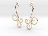 Wind Curls Earrings 3d printed