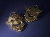 Laughing Greek Mask Pendant 1.5inches 3d printed Add a caption...