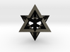 Star Tetrahedron pendant #Black-Steel #33mm 3d printed