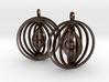Orbital Earrings 3d printed