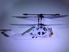 R/C Drone | X2 Helicopter | a Syma S107 Mod 3d printed Assembled print with modified tail mount (cut hole and 2-sided tape)