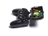 PS4 controller & BLU Dash 3.5 3d printed Side View - A Samsung Galaxy S3 and a black PS4 controller