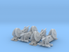 1/220 Bange cannons for train transport x4 3d printed