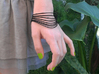 AKUSENTO Bracelet Small 3d printed Wrist Bracelet flexes with the movement of the wrist but stays in the shape