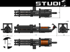 Z6 Rotary Blaster Cannon 4/10 3d printed