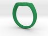 Green lantern ring Size: US14  3d printed