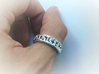 Pixel Band 3d printed Without blackener