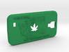 Galaxy S4 Washington Marijuana Leaf 3d printed
