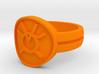 Orange Avarice Double Banded Sz 11 3d printed