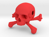 35mm 1.4in Bead Skull & Bones Pendant Crane 3d printed