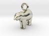 Polar Bear Pendant 3d printed