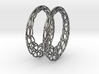 Round Wire Hoop Earrings 50mm 3d printed