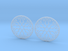 Snowflake Hoop Earrings 40mm 3d printed