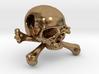 25mm 1in Bead Skull & Bones Pendant Crane 3d printed