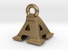 3D Monogram Pendant - AAF1 3d printed
