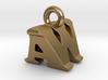 3D Monogram Pendant - AWF1 3d printed
