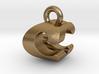 3D Monogram Pendant - CGF1 3d printed