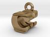 3D Monogram Pendant - CMF1 3d printed