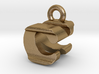 3D Monogram Pendant - CNF1 3d printed
