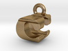 3D Monogram Pendant - CUF1 3d printed