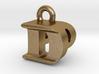 3D Monogram Pendant - DPF1 3d printed