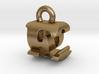 3D Monogram Pendant - EQF1 3d printed