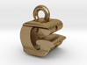 3D Monogram Pendant - GRF1 3d printed