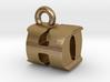 3D Monogram Pendant - HOF1 3d printed
