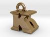 3D Monogram Pendant - KBF1 3d printed