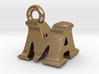 3D Monogram Pendant - MAF1 3d printed