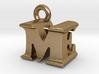3D Monogram Pendant - MEF1 3d printed