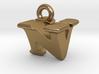 3D Monogram Pendant - NVF1 3d printed