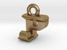 3D Monogram Pendant - PJF1 3d printed