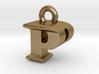 3D Monogram Pendant - PPF1 3d printed