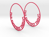 The Sweetest Thing Hoop Earrings 60mm 3d printed