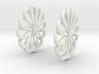 Flowerish 7 Big Hoop Earrings 55mm 3d printed