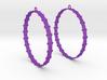 Knitted 2 Hoop Earrings 60mm 3d printed