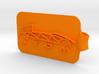 Atom Logo Key Fob 3d printed