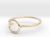 Open Circle Ring Sz. 5 3d printed