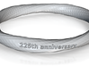 225th anniversary ring 3d printed