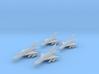 1/700 MiG-21Bis x4 (FUD) 3d printed